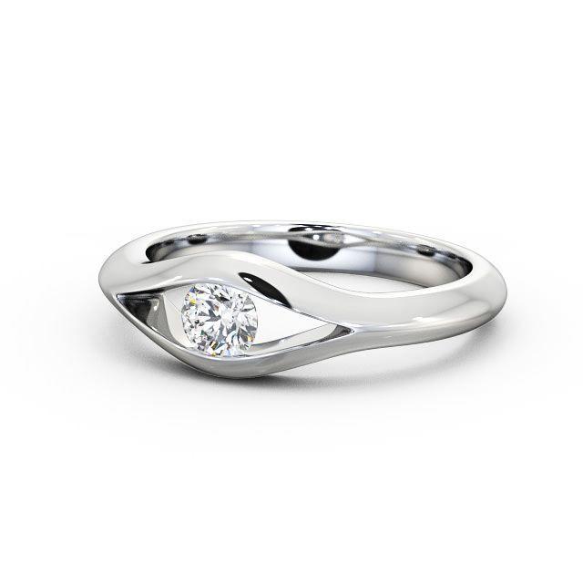 Angelic Diamonds Round Diamond Engagement Ring