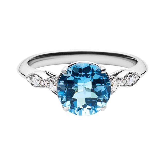 1stDibs 14k White Gold Diamond Engagement Ring