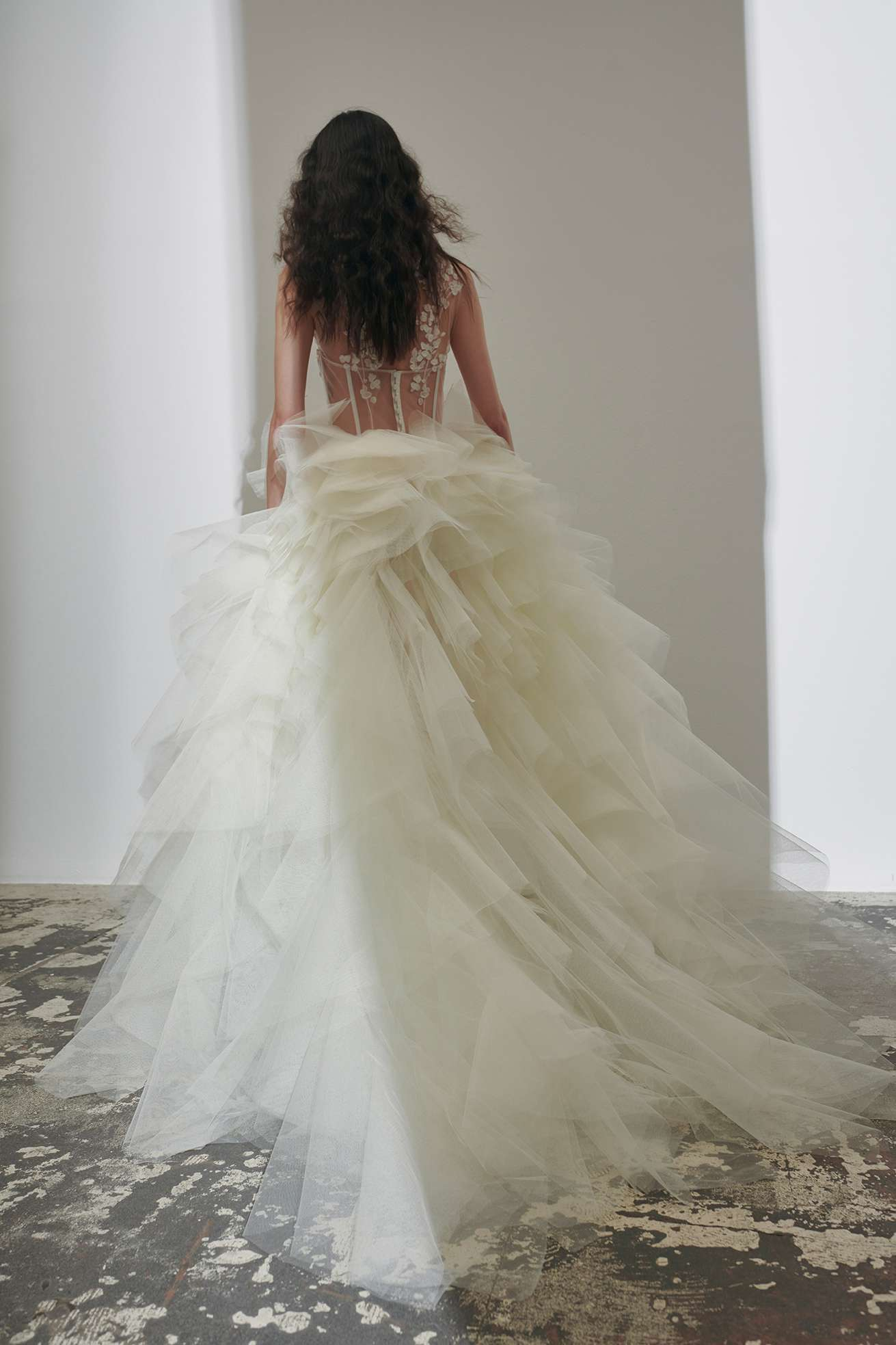 blossom bliss long couture dress kaviar gauche