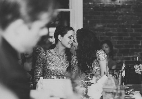 <p>Black and white lesbian wedding</p>