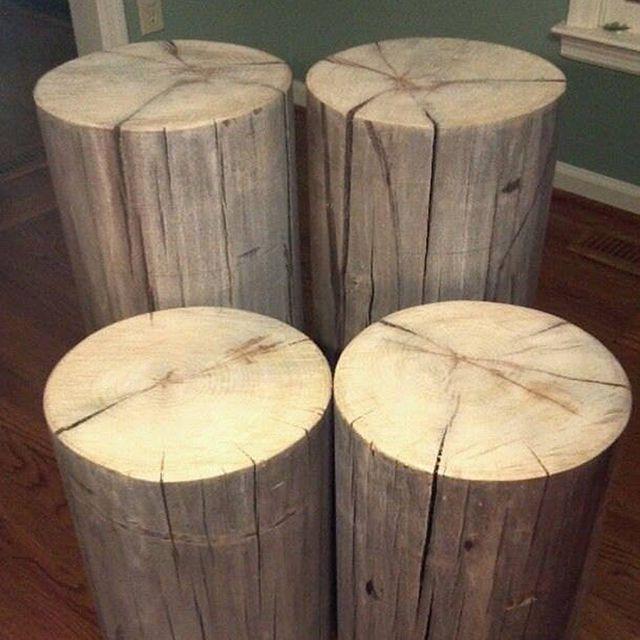 Etsy Weathered Gray Poplar Stumps