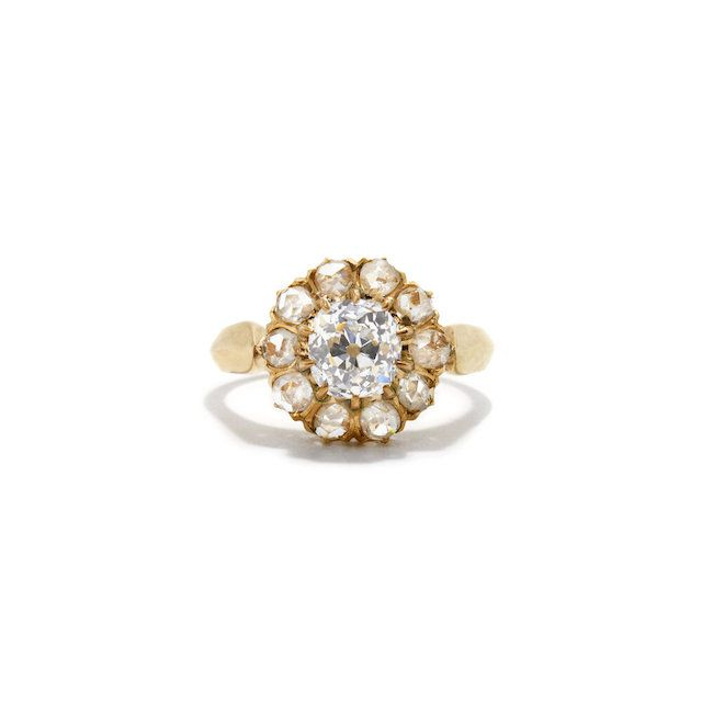 Ashley Zhang Old Mine Cut and Rose Cut Diamond Ring