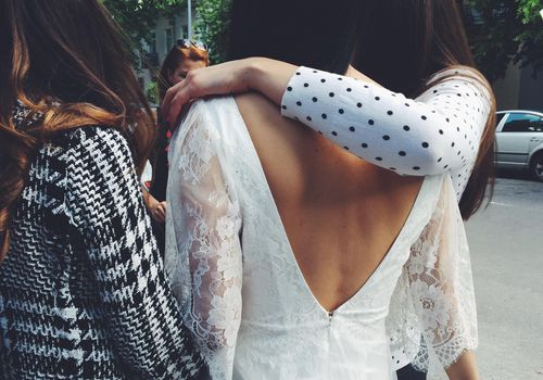 <p>Bride with Her Wedding Guests</p>