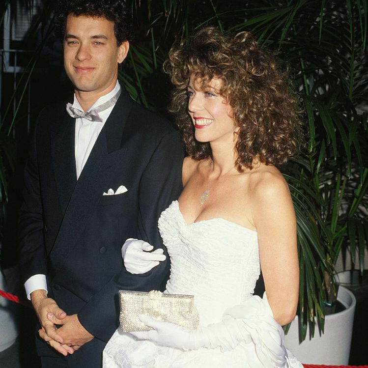American actor Tom Hanks and his partner, actress Rita Wilson attend the 59th Academy Awards ceremony, in Los Angeles.