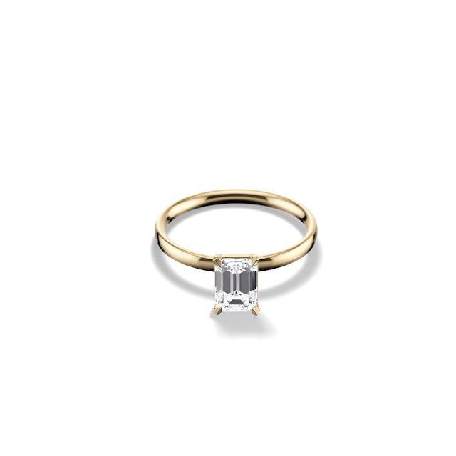 Gemist Emerald Cut Ring