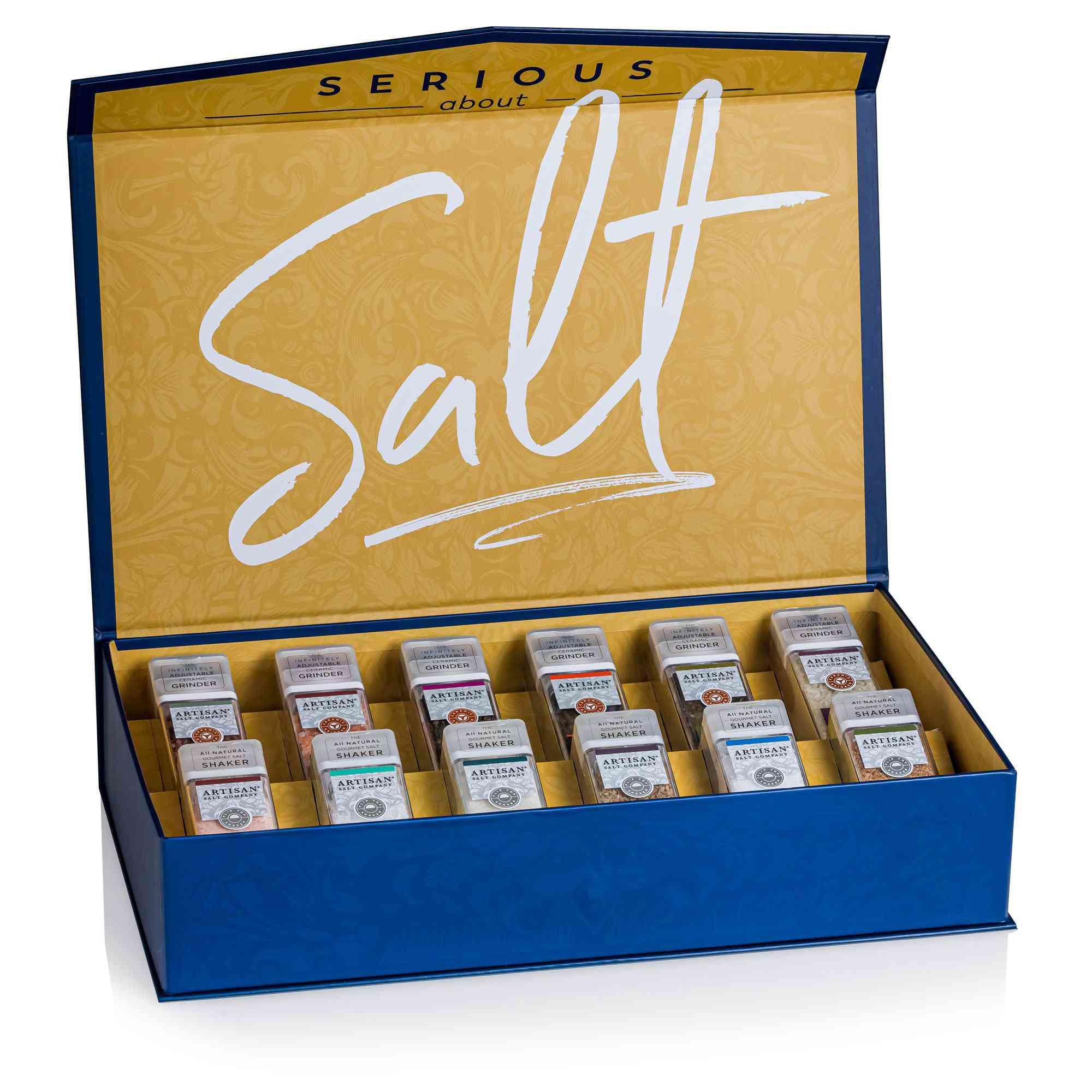 Saltworks Serious About Salt Shaker and Grinder Set