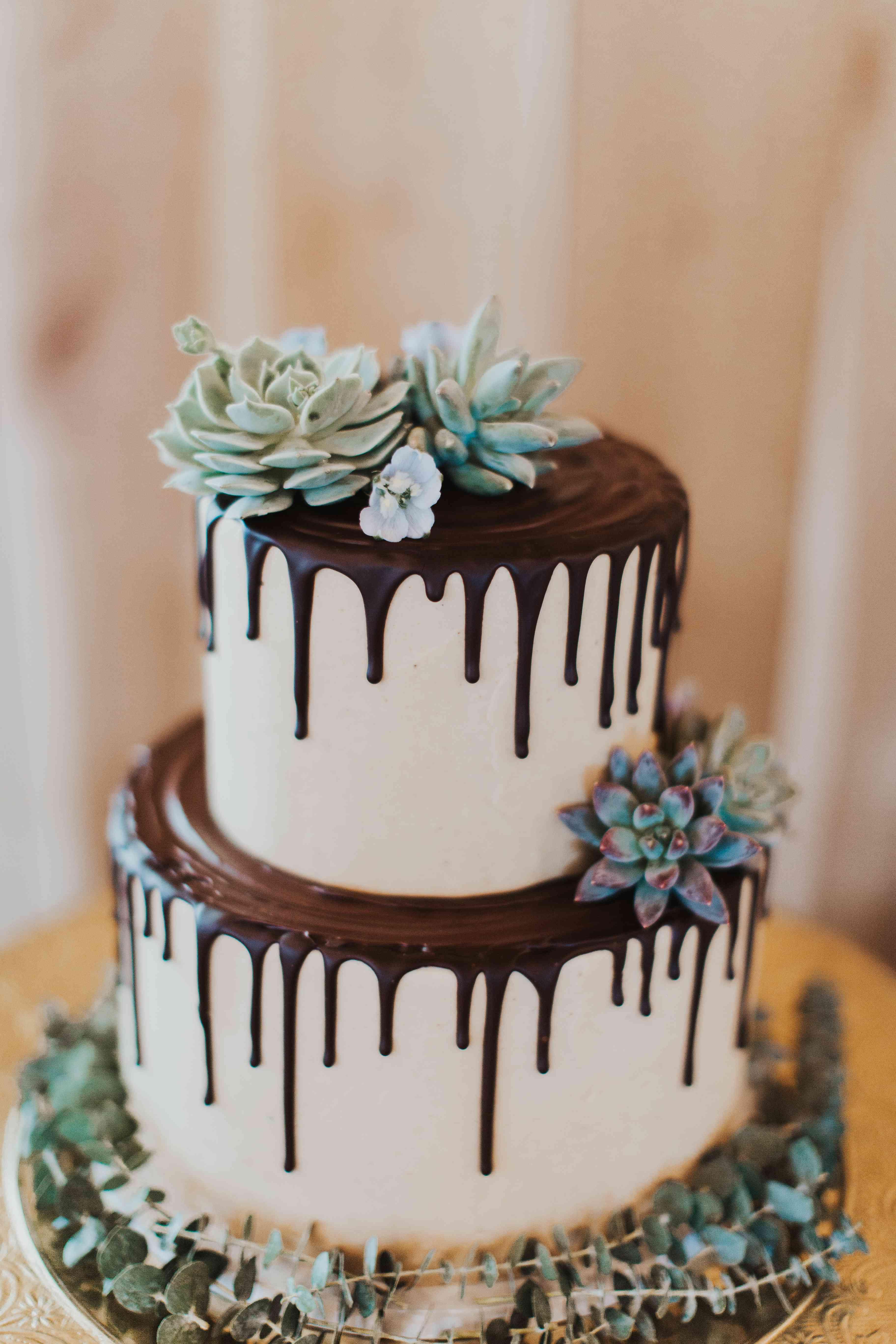 <p>succulent wedding cake</p>
