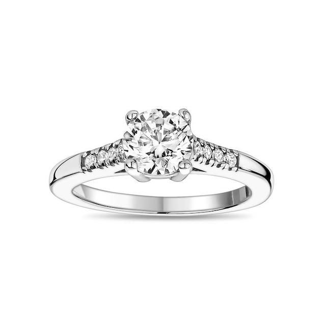 The Steel Shop Stainless Steel Round Solitaire Engagement Ring