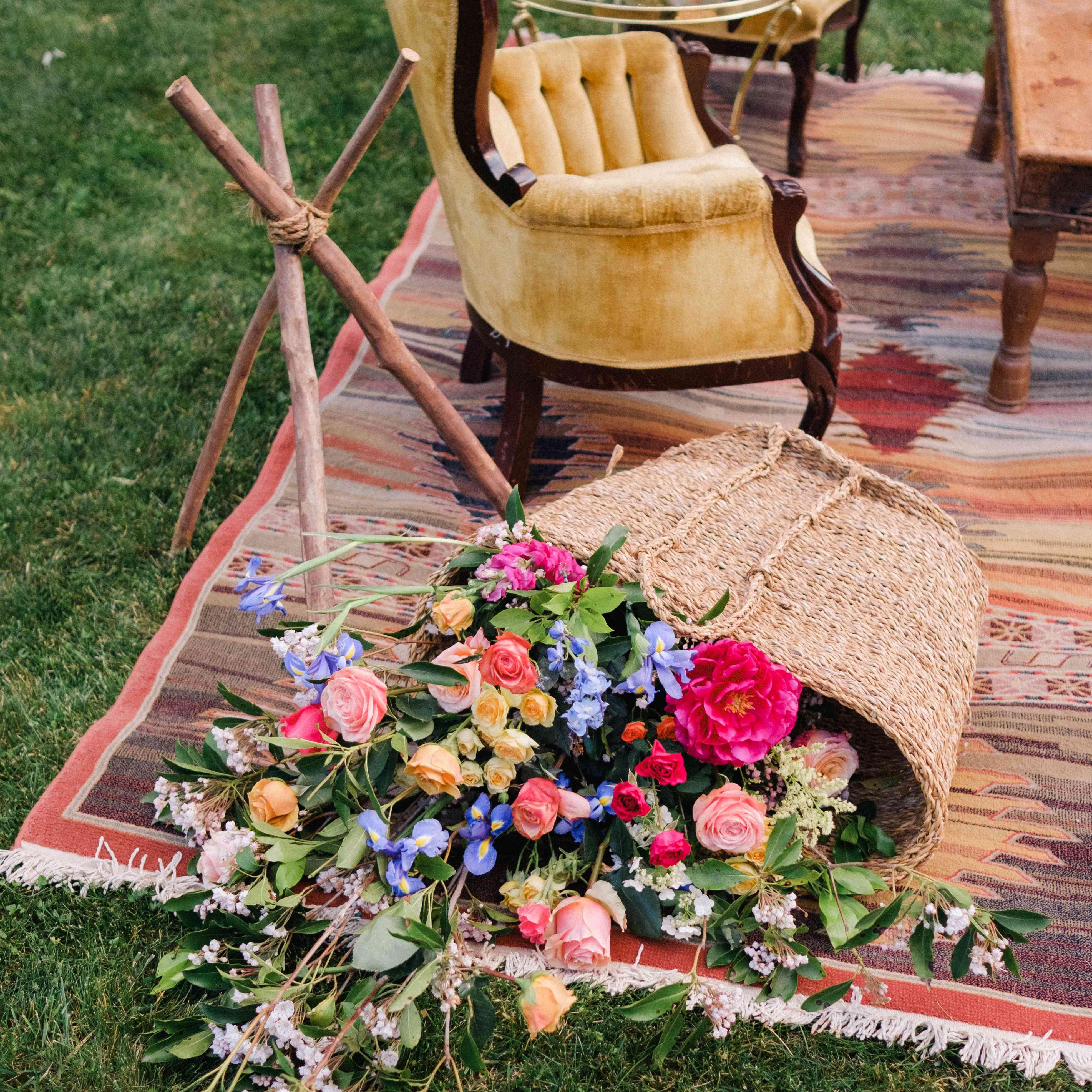 outdoor bohemian decor