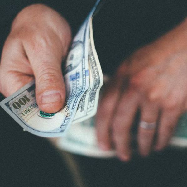 money, cash, dollars, charity, give, gift, hand, man, ring