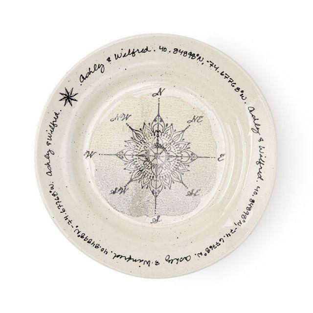 Uncommon Goods Custom Coordinates Wedding Plate