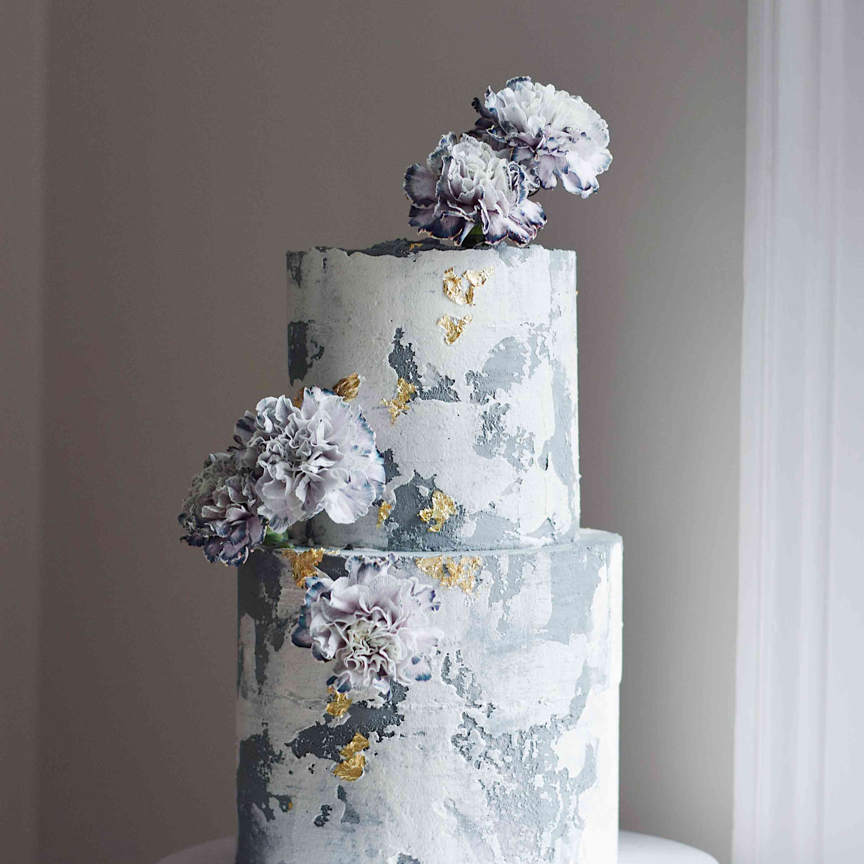 marbled two tier cake