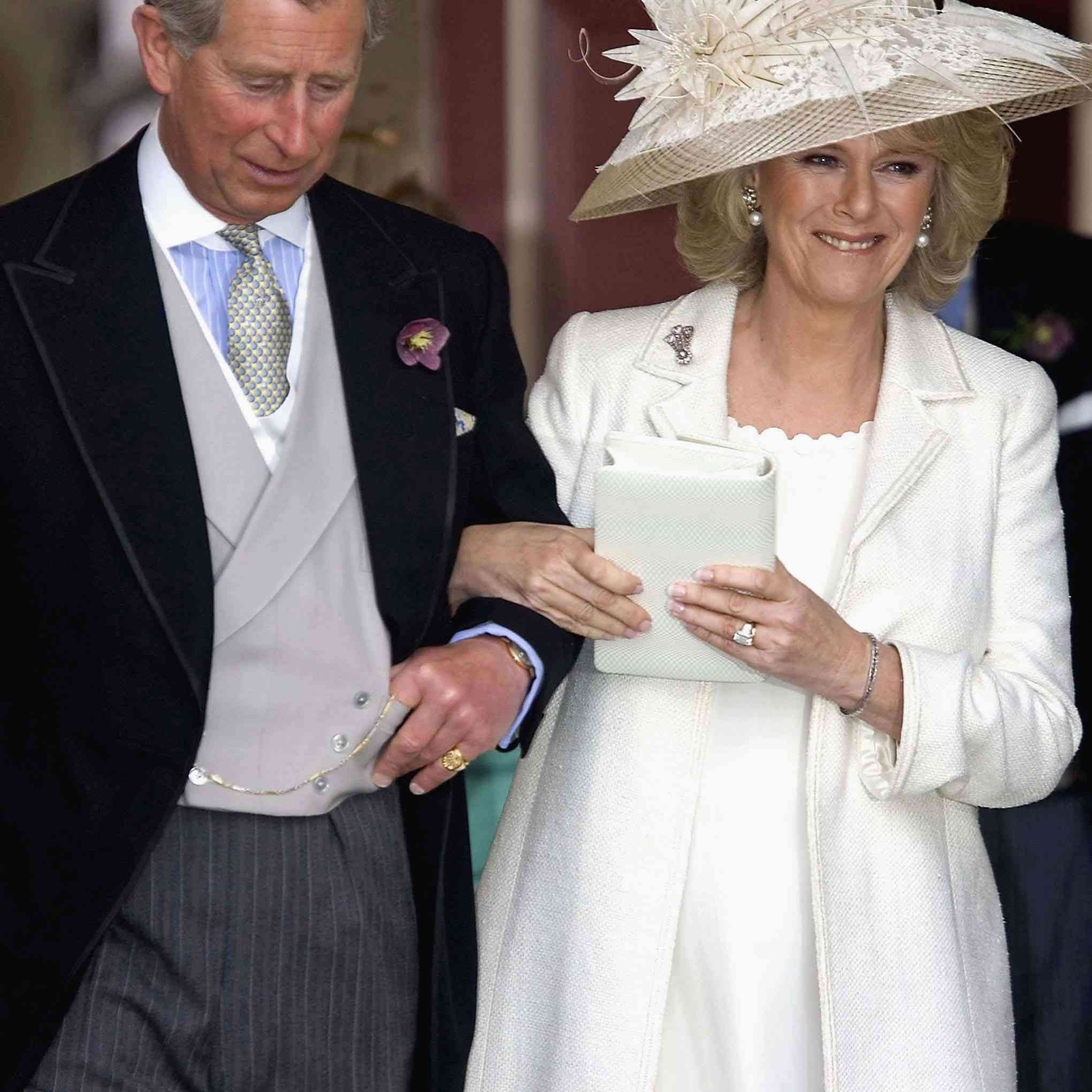 Prince Charles and Duchess Camila Parker Bowles at their civil wedding ceremony.