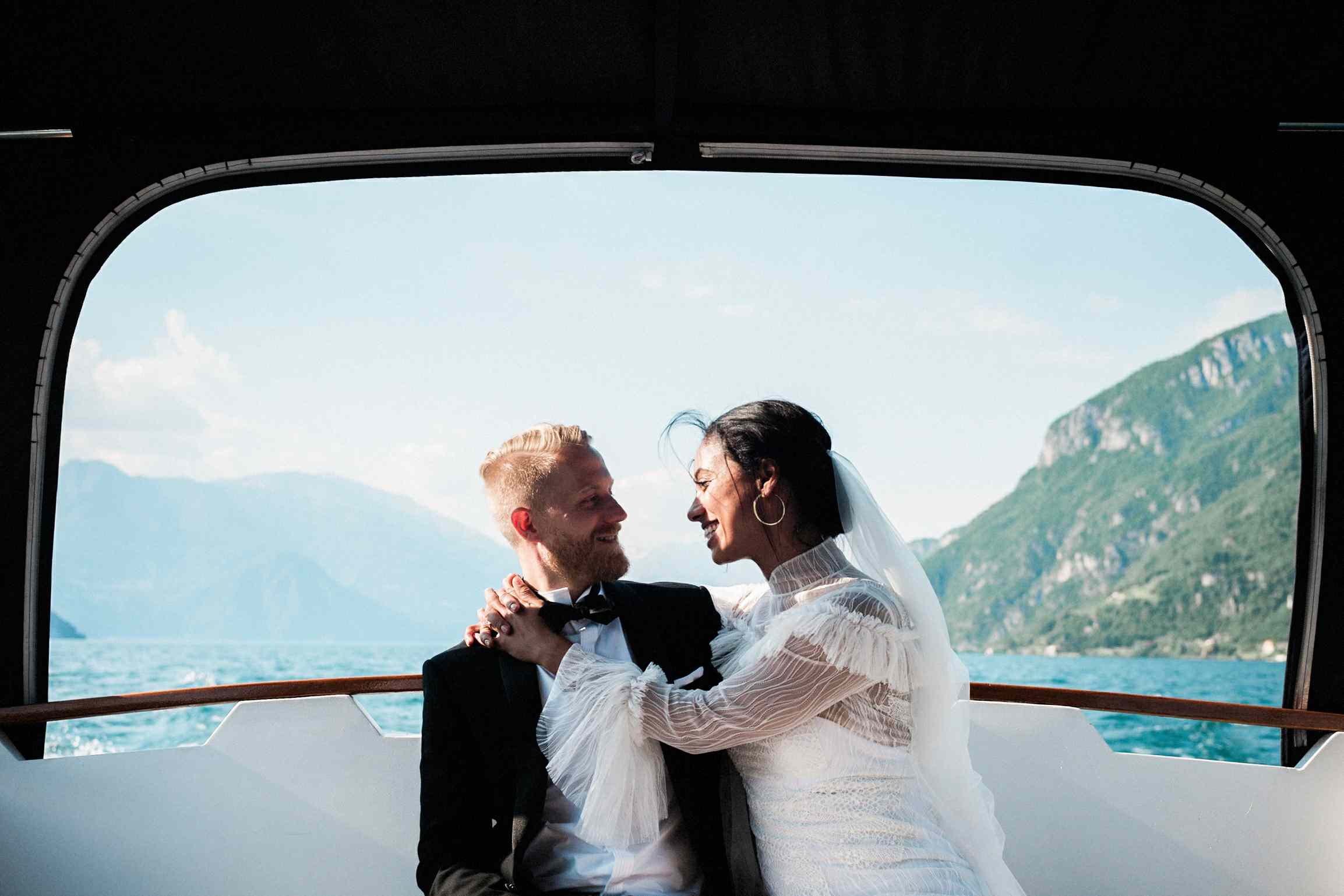 <p>Bride and Groom on Boat</p><br><br>