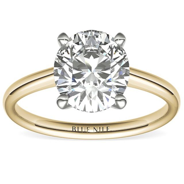 Blue Nile 2ct Round Solitaire Engagement Ring in 18k Yellow Gold