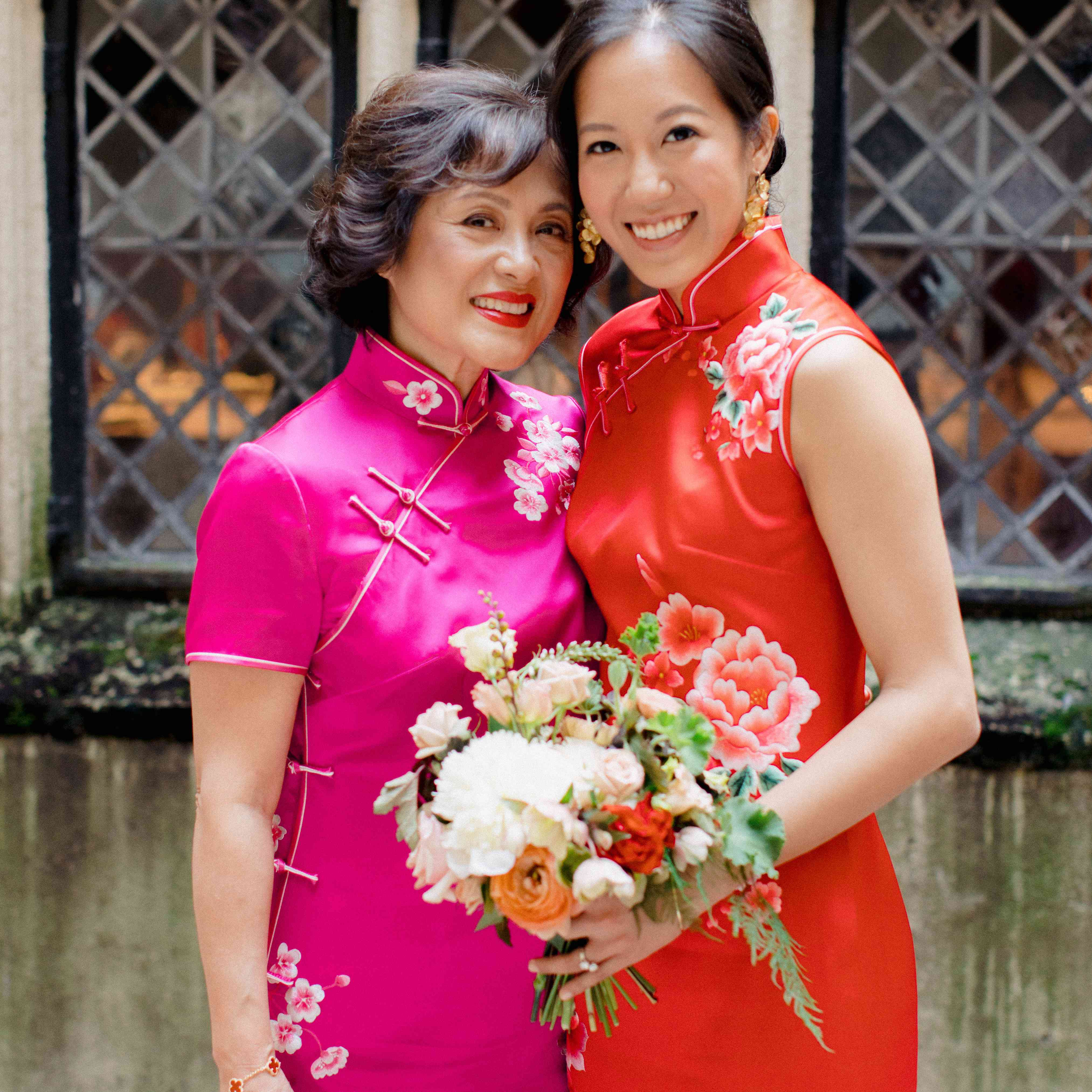 The bride and her mother
