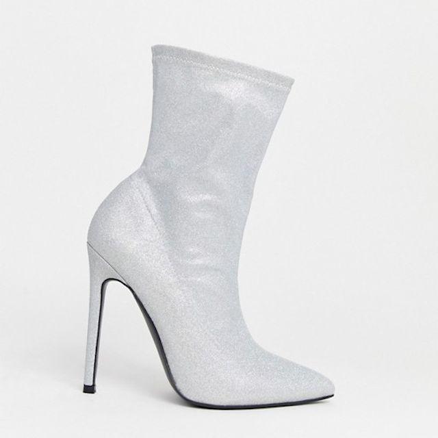 ASOS DESIGN Wide Fit Esmerelda High Heeled Sock Boots