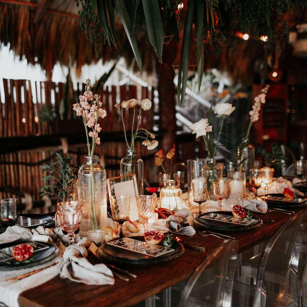 Reception tables lower light