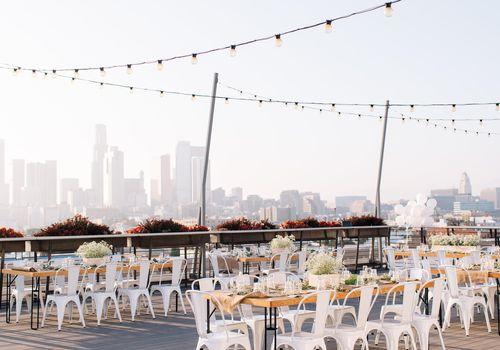 Wedding venue with view of LA.