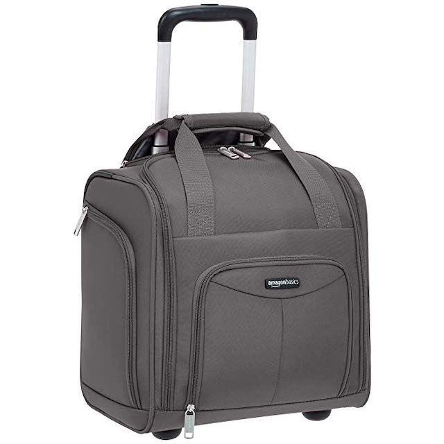 AmazonBasics Underseat Luggage Suitcase With Wheels