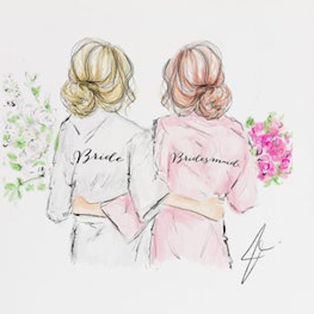 Melsys Illustrations Bridal Gals Custom Illustration