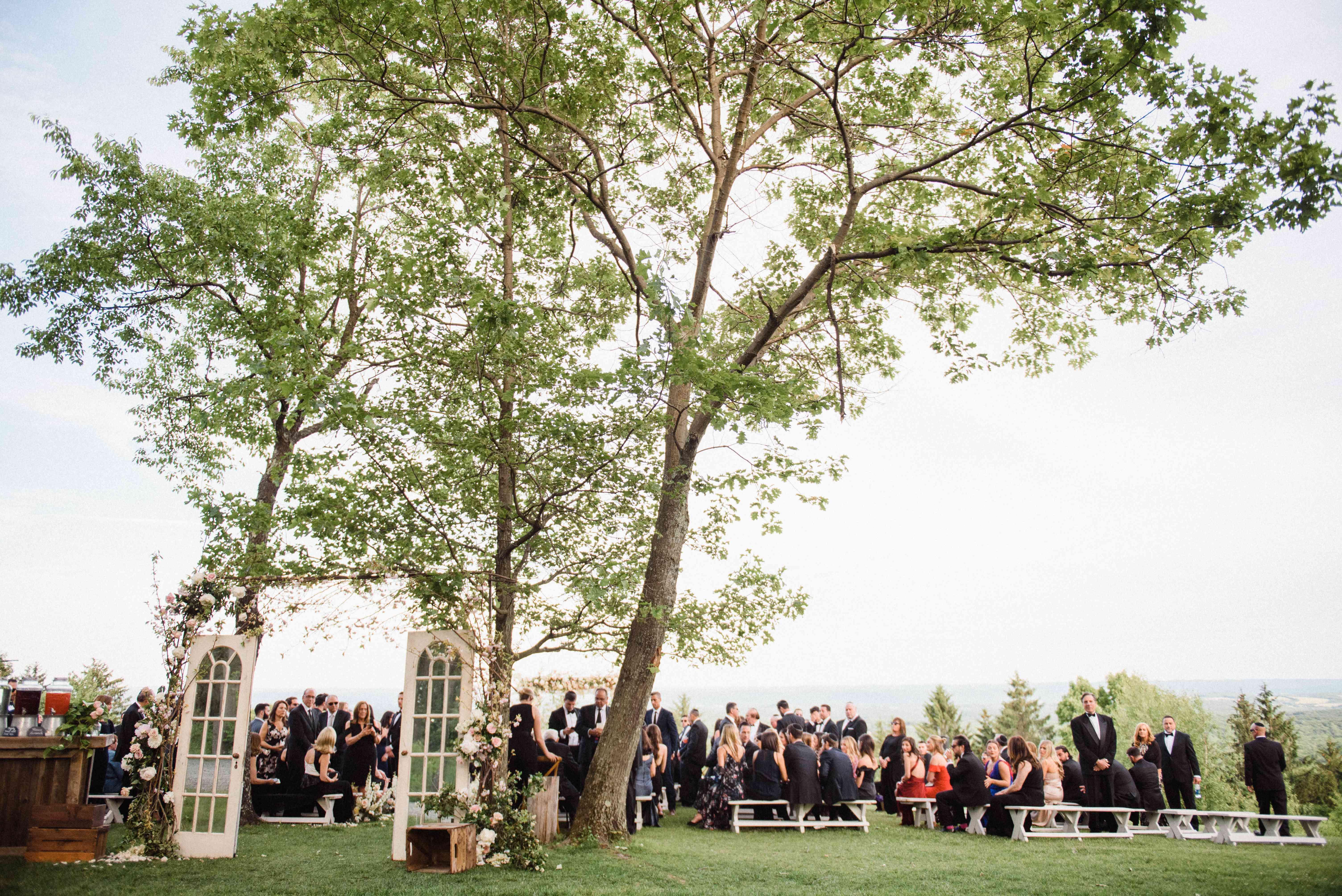 barn doors wedding ceremony