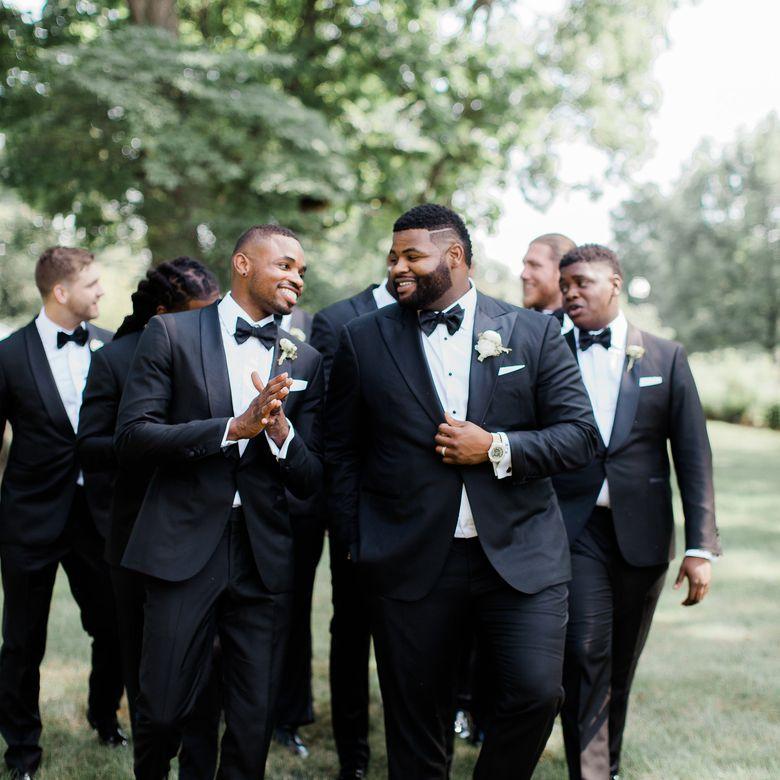 Johnathan Hankins wedding party