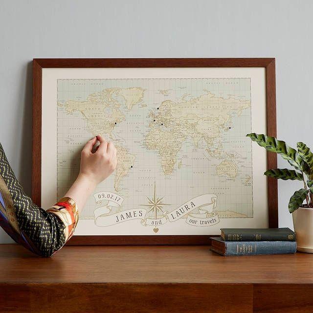 Uncommon Goods Personalized Anniversary Pushpin World Map