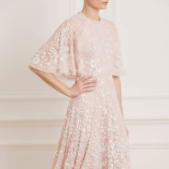 Needle & Thread Sequin and Ribbon Dress