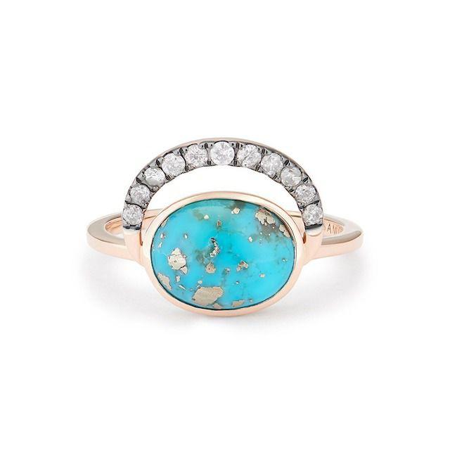 Samantha Tea Laluna Ring Persian Turquoise Ring