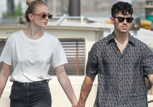 ophie Turner and Joe Jonas are seen getting off a boat in Paris, France.