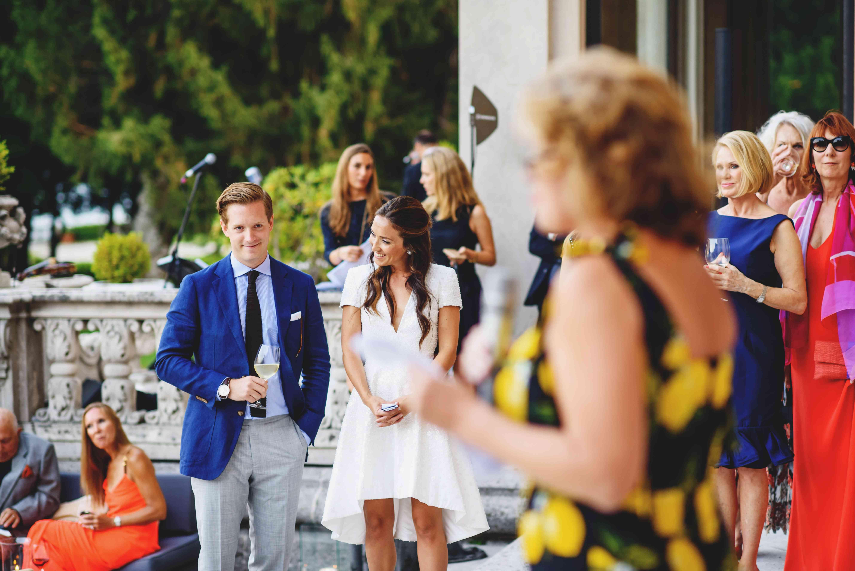 bride and groom wedding welcome dinner
