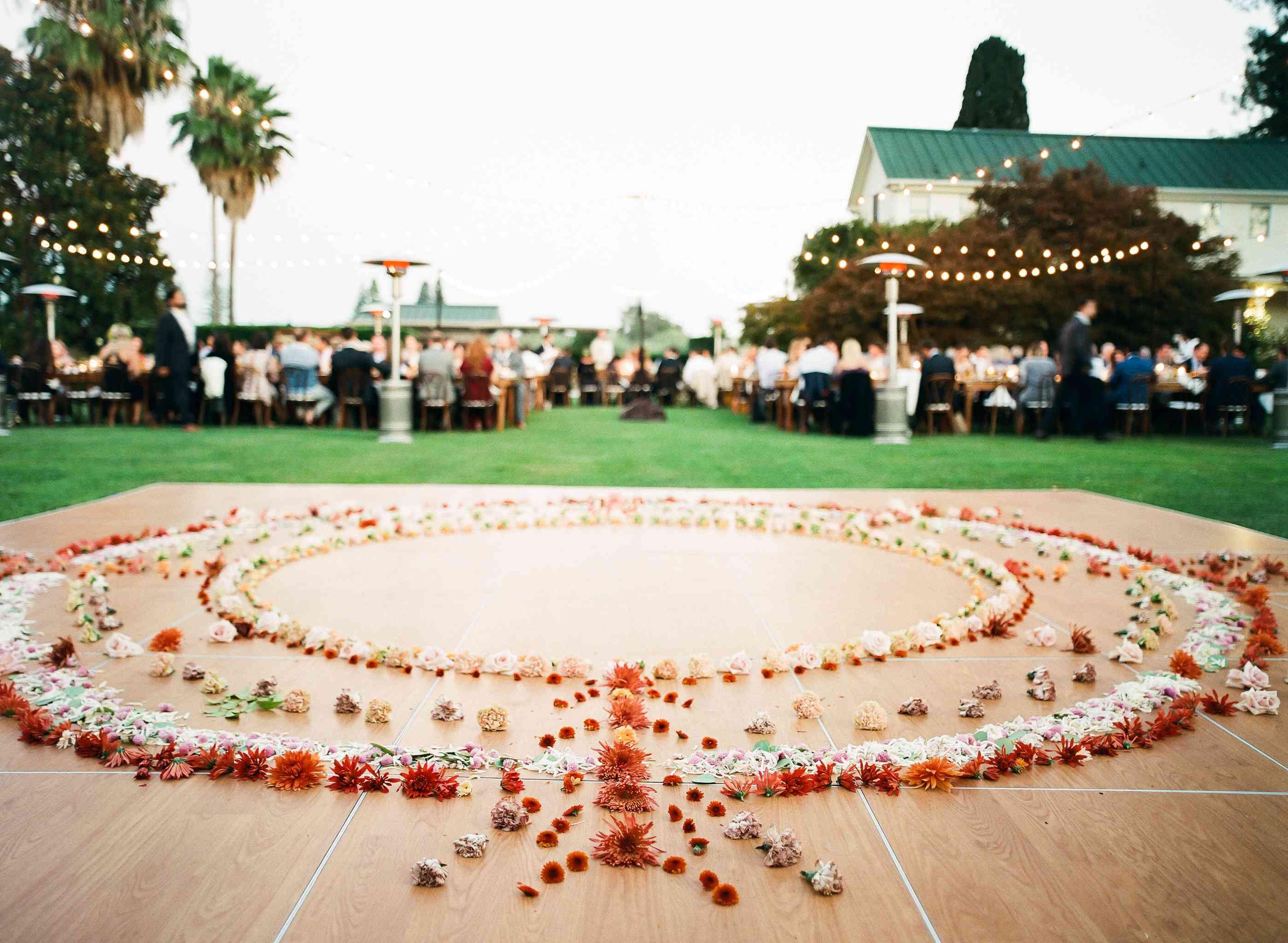 Floral Mandala on the dance floor