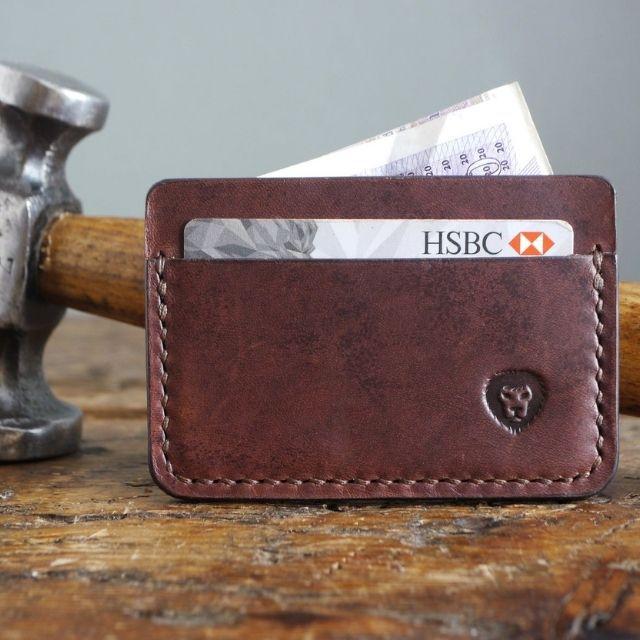 KingsleyLeather Minimalist Leather Card Holder