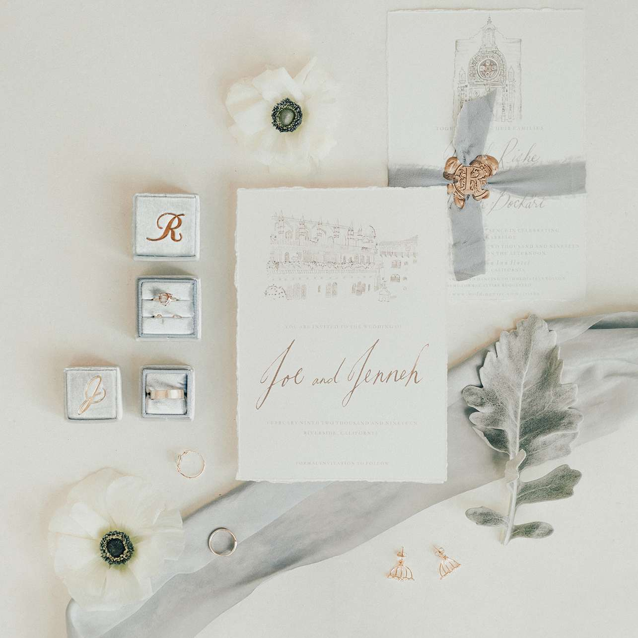 invitation and rings