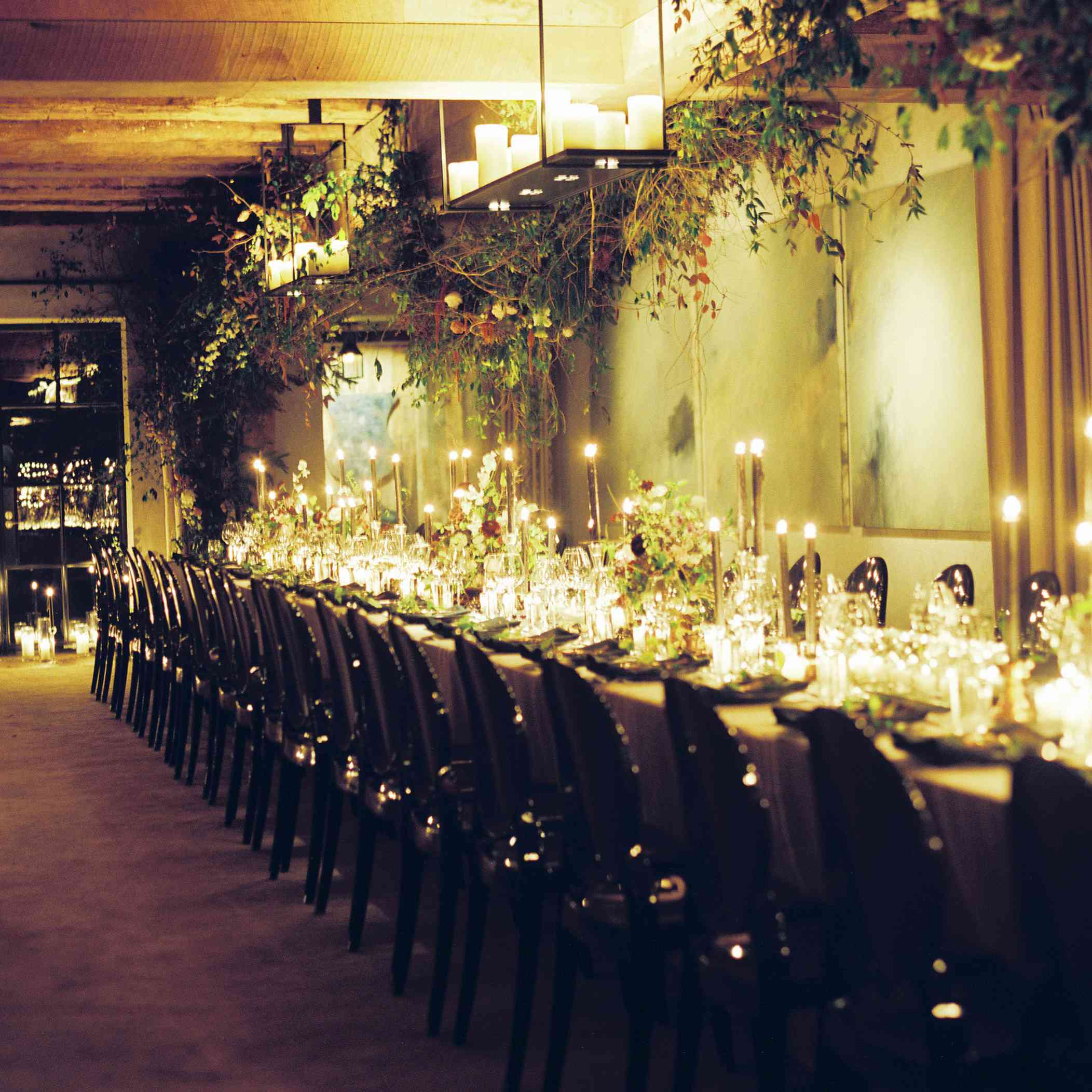 long banquet table