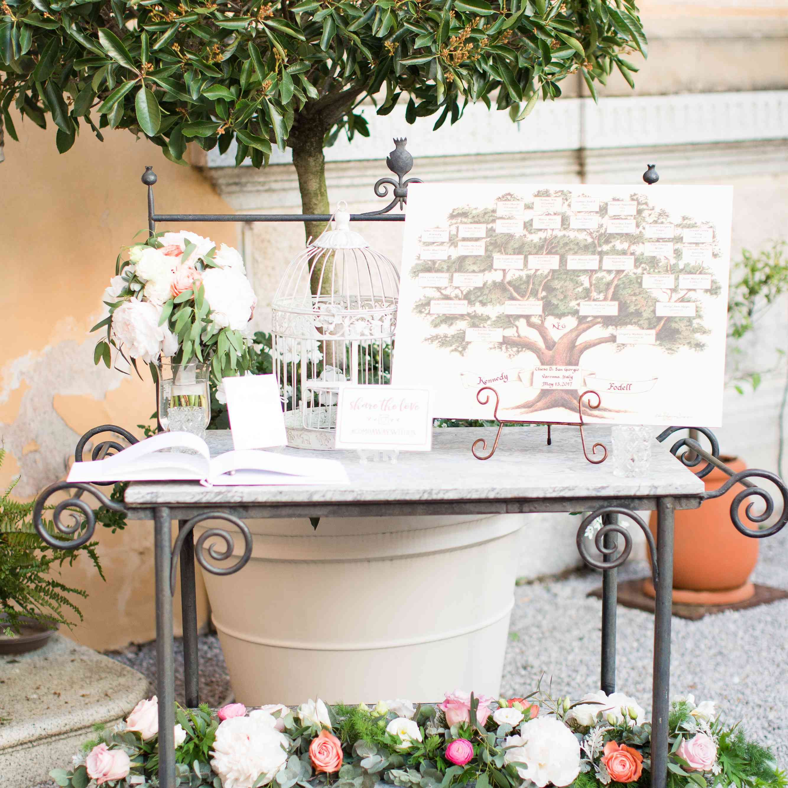 <p>Floral seating chart</p><br><br>