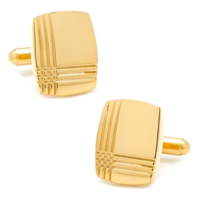 Cufflinks, Inc. Tartan Engraved Cufflinks