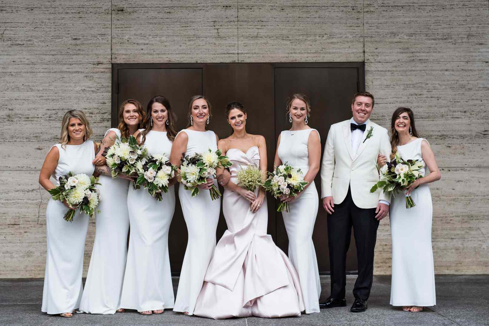 Bridesmaids and the bridesman