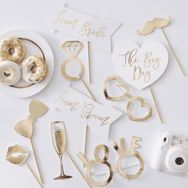 Target Gold/White Photo Booth Wedding Props