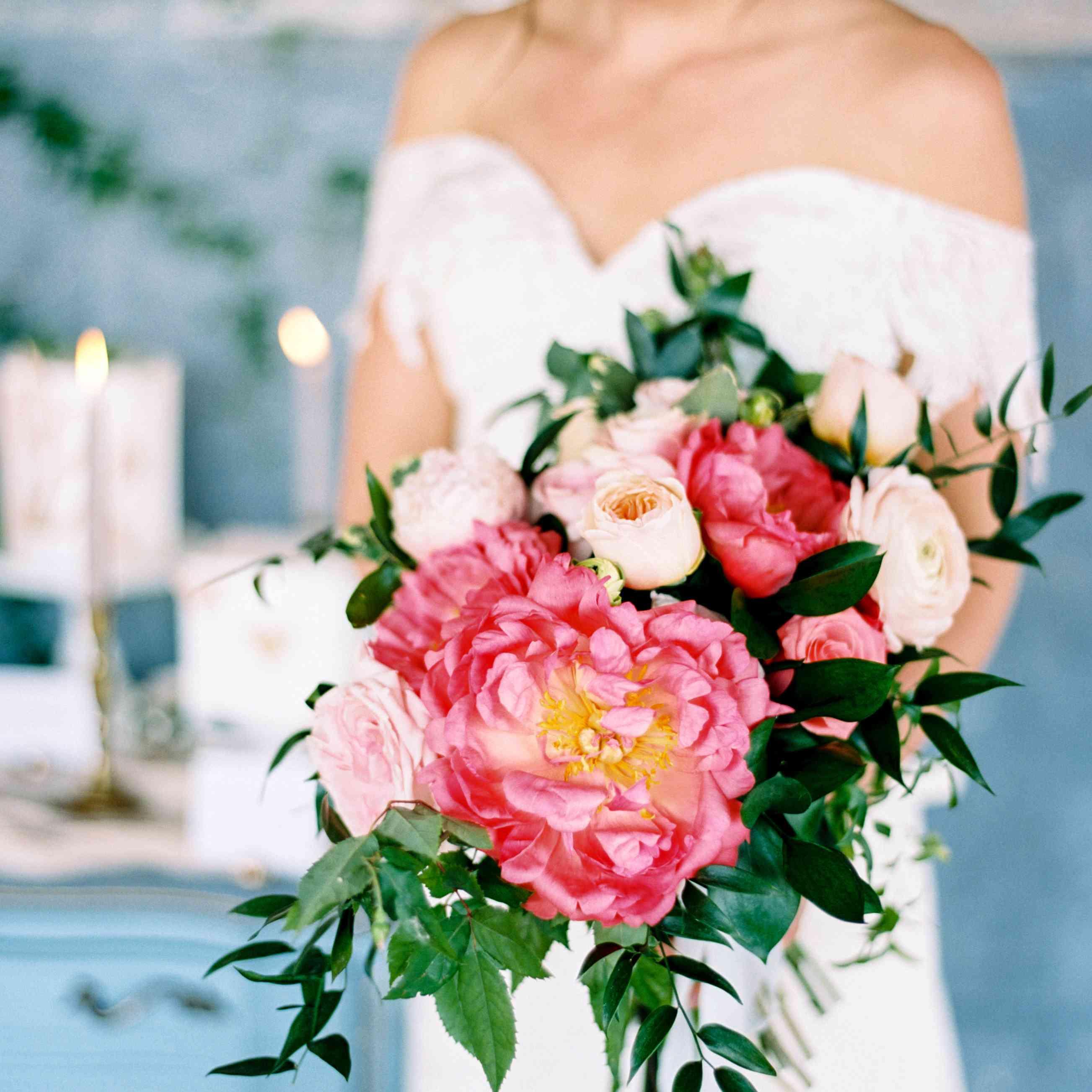 Bold Peony bouquet
