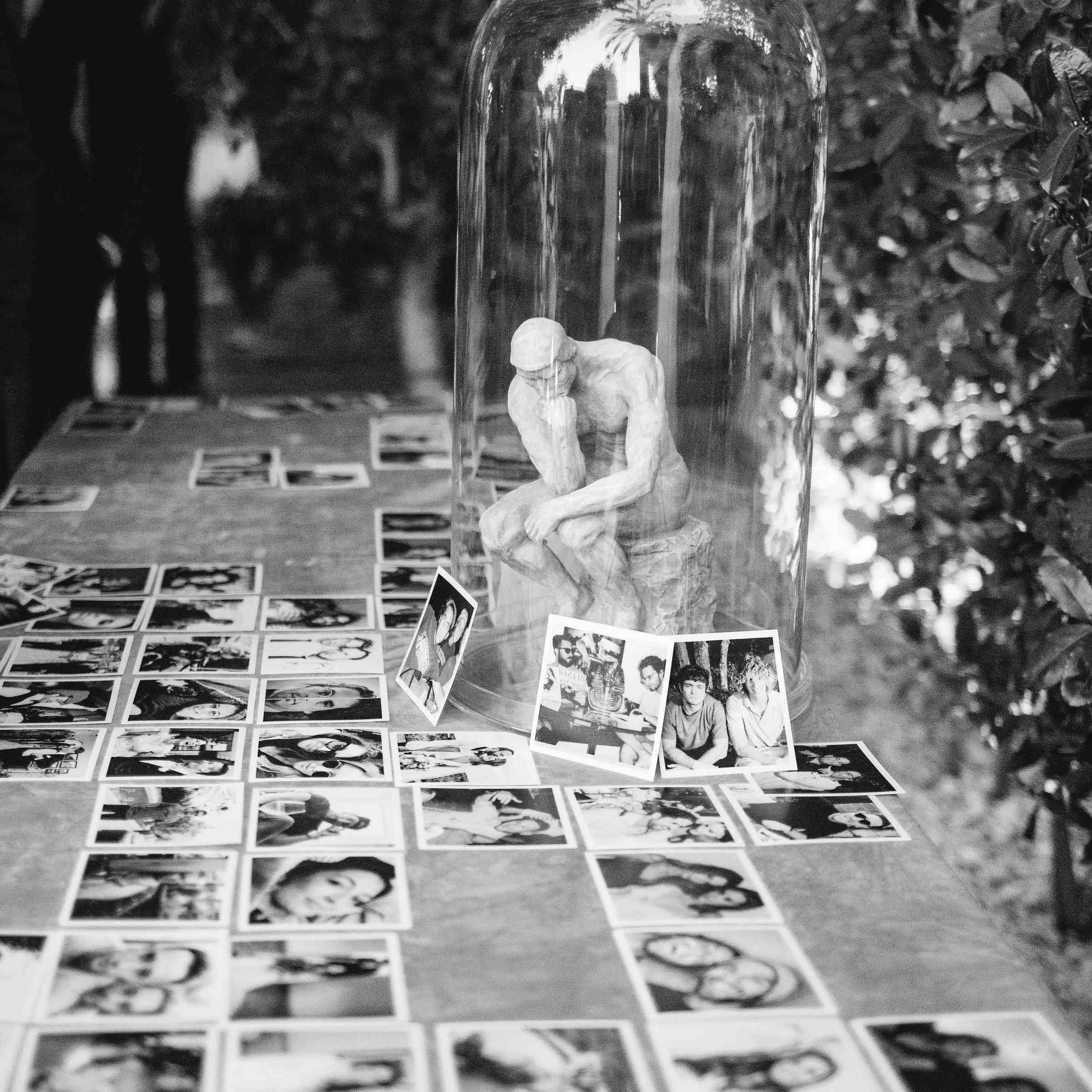 <p>polaroid photos from guests portraits</p><br><br>