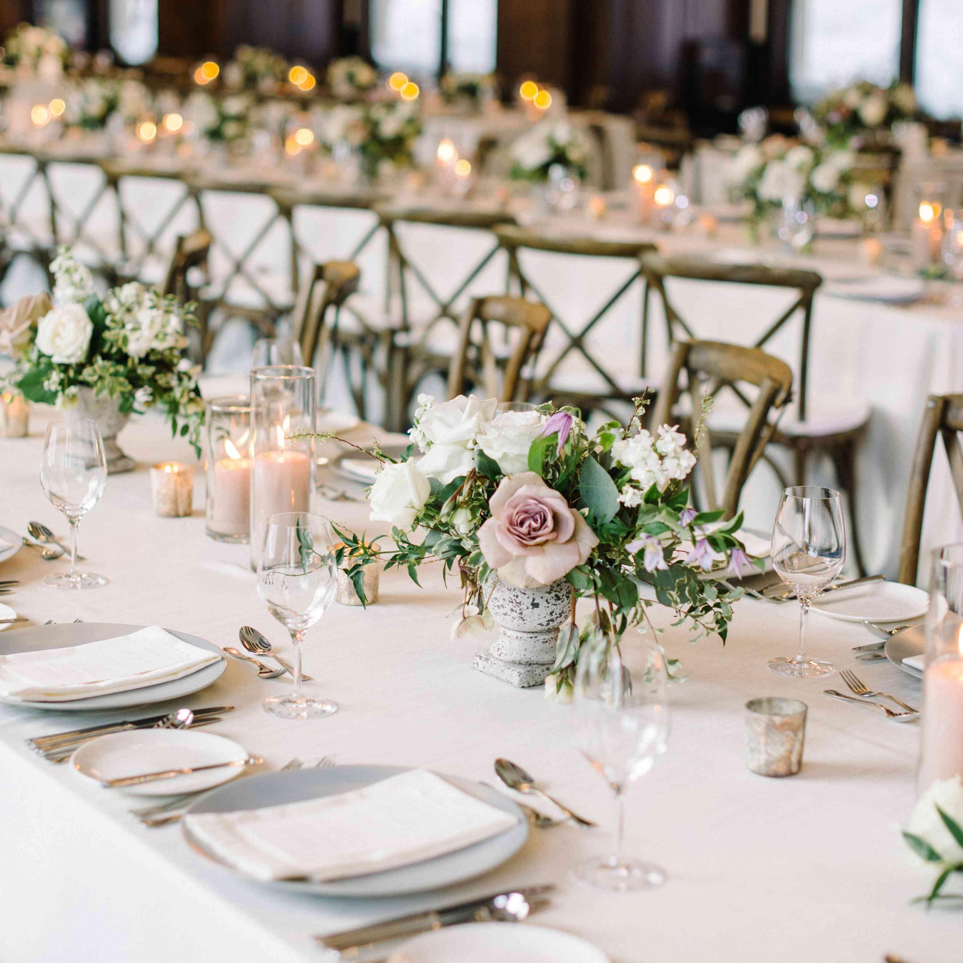 tablescape long reception tables