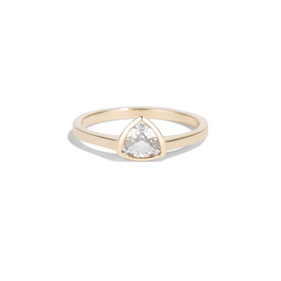 Bario Neal Trillion White Sapphire Ring