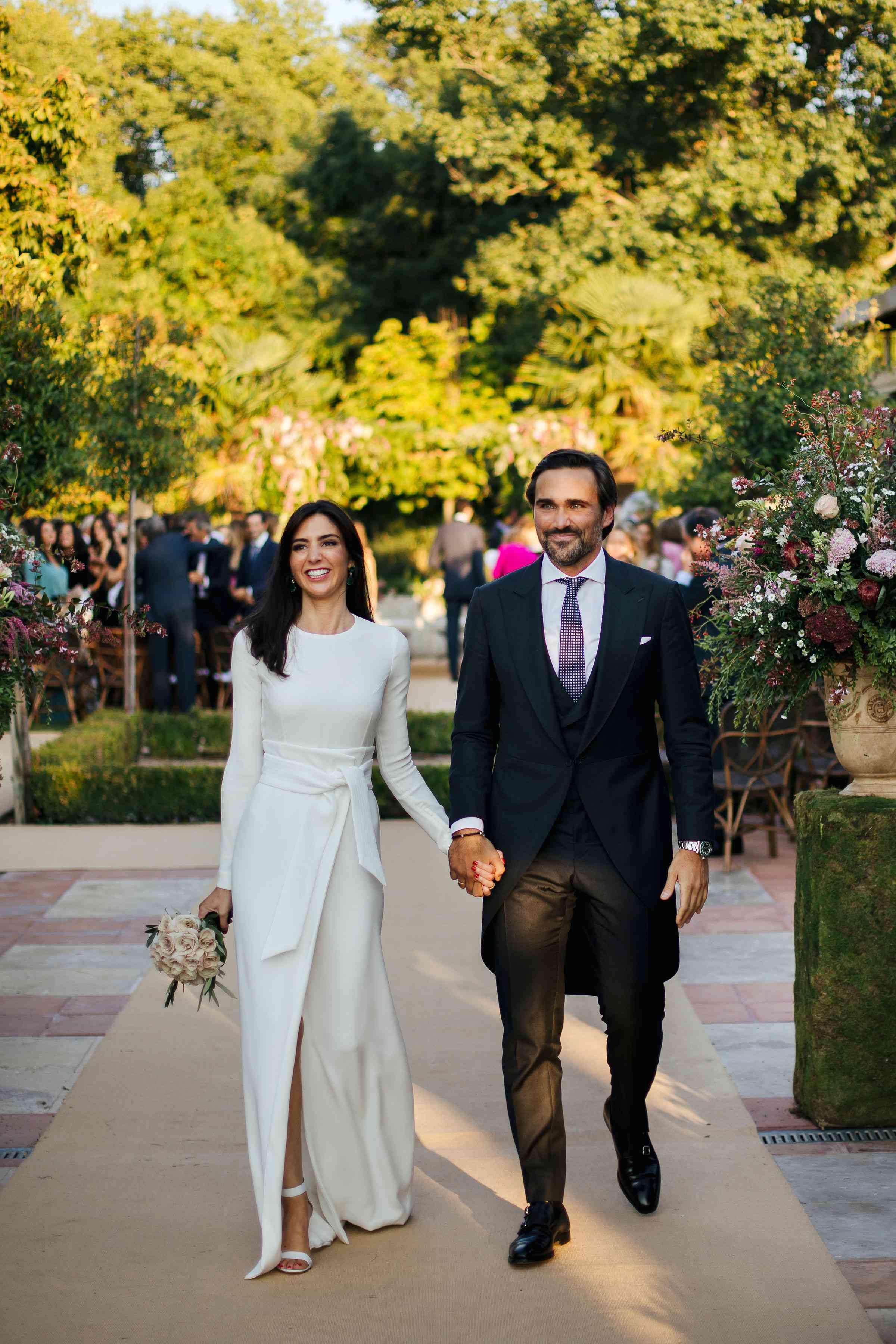 madrid wedding, ceremony exit