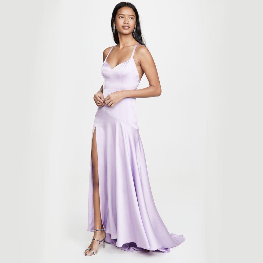 purple slip dress