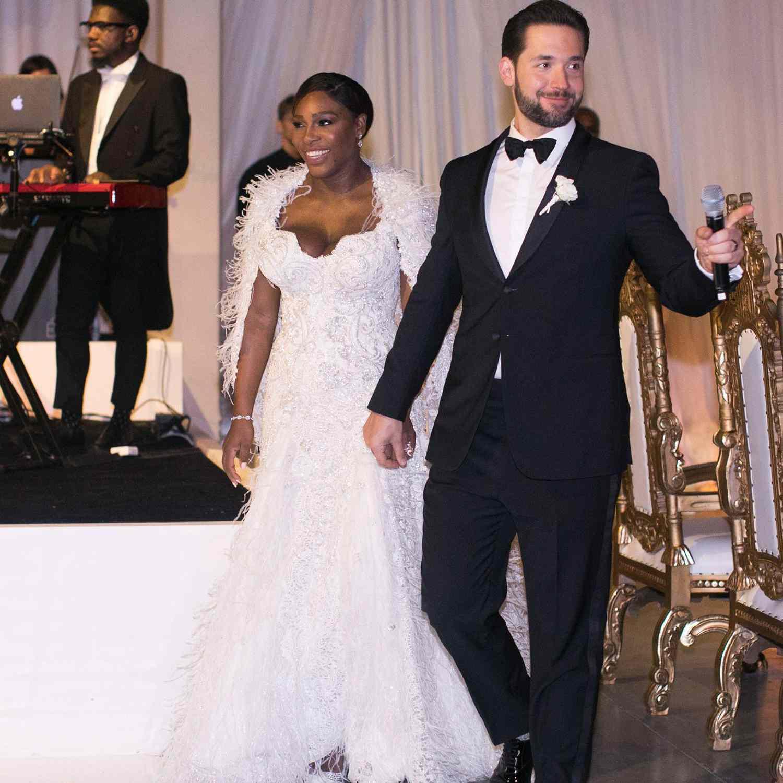 <p>Serena Williams in Second Versace Wedding Dress</p>