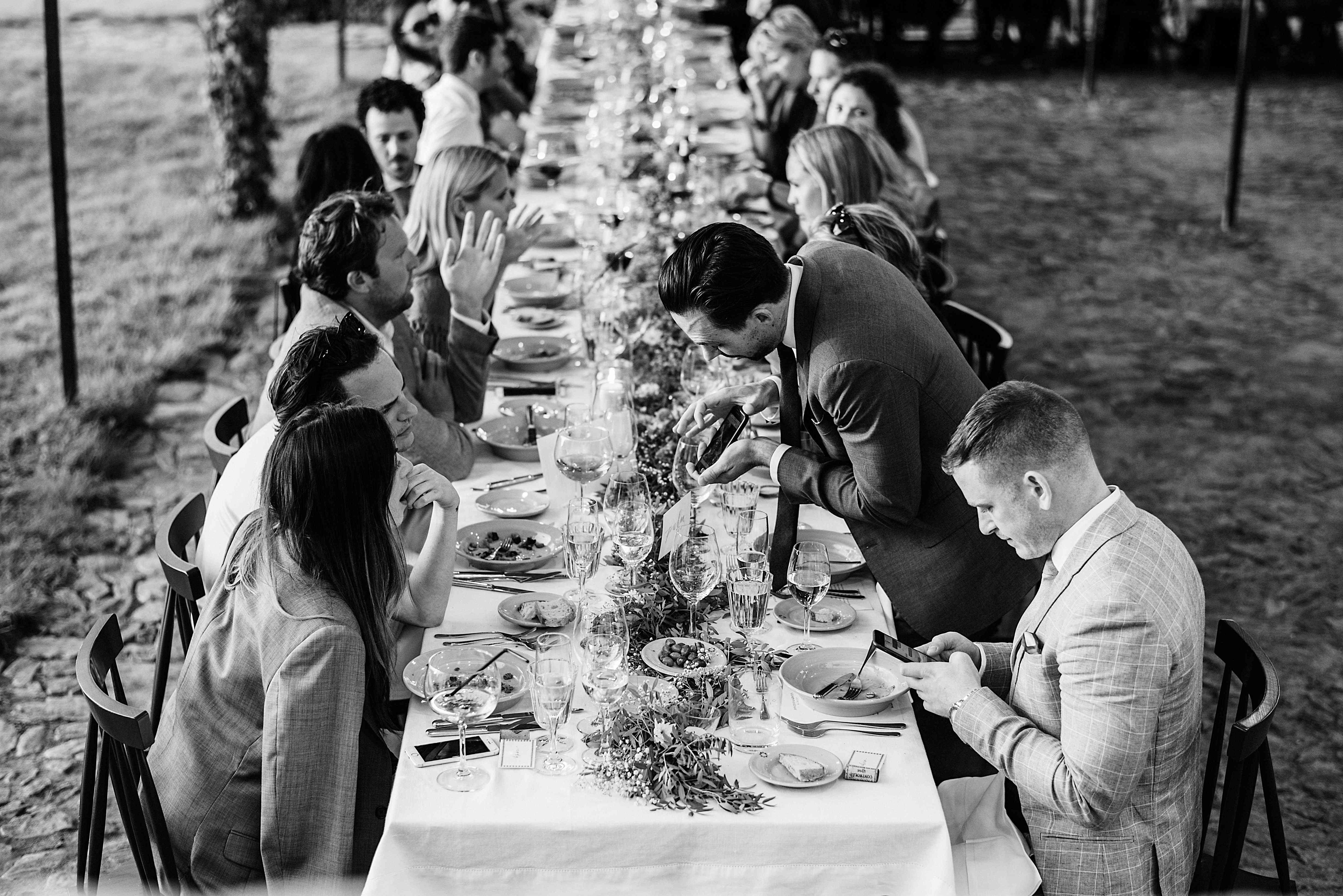 <p>Guests at dinner table</p><br><br>