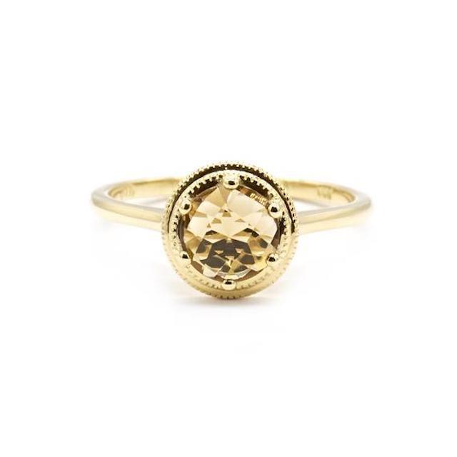 Natalie Marie Amber Honey Quartz Ring