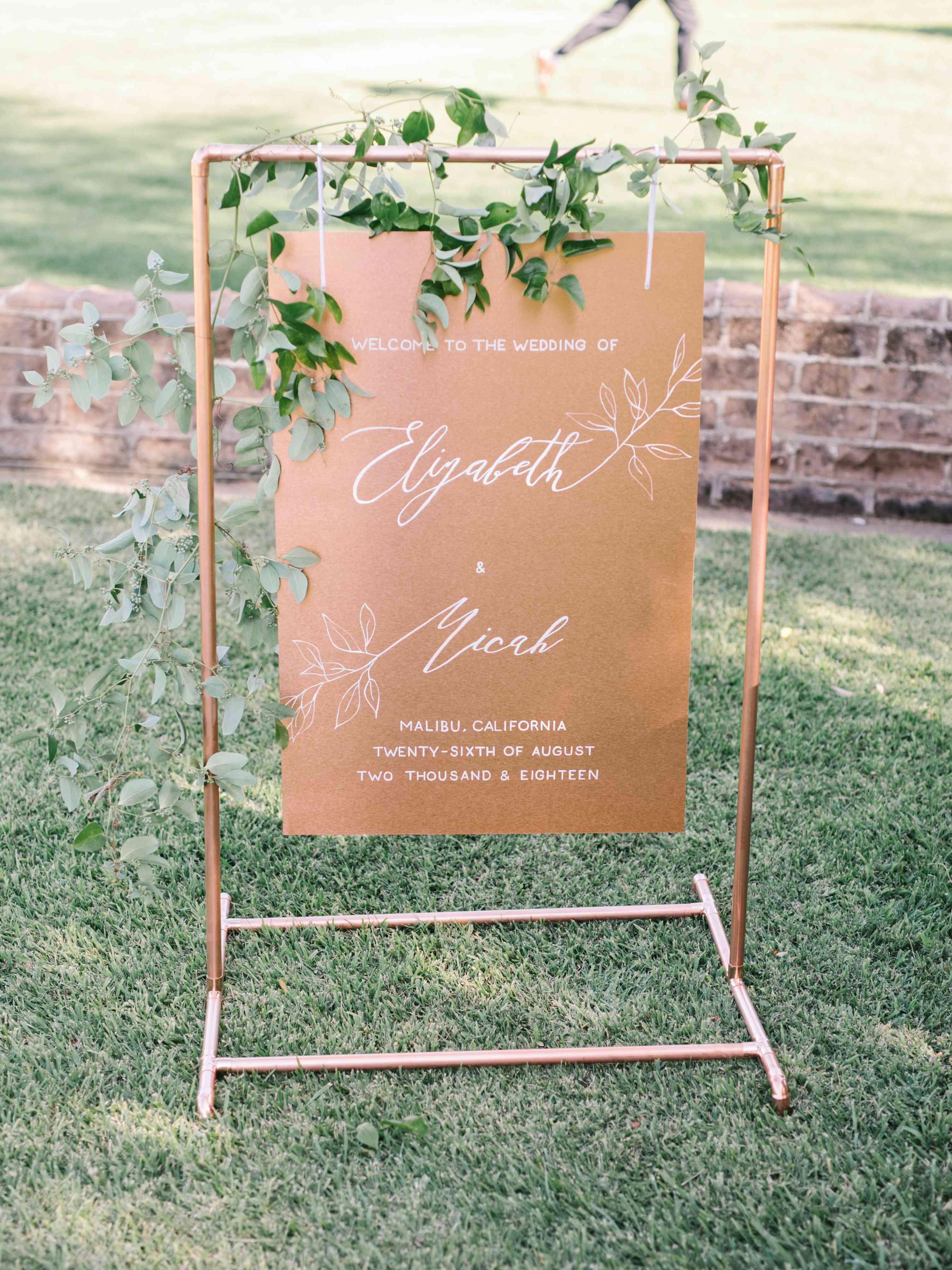 <p>copper ceremony sign</p>